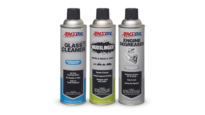 AMSOIL new products - Engine Degreaser Glass Cleaner and Mudslinger