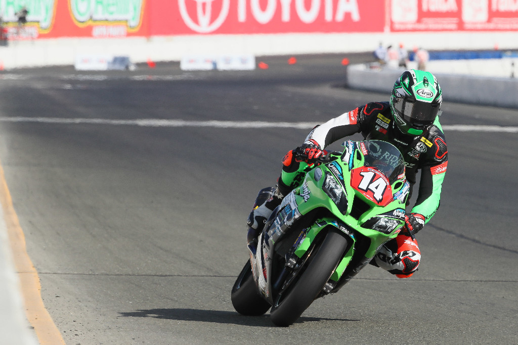 Andrew Lee won his first Stock 1000 race of the season at Sonoma Raceway