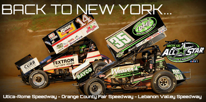 The All Star Circuit of Champions will visit trio of tracks during three-day New York road trip