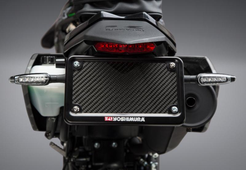 Our new and improved Yoshimura Fender Eliminator Kit shown with our new LED signals (sold separately)