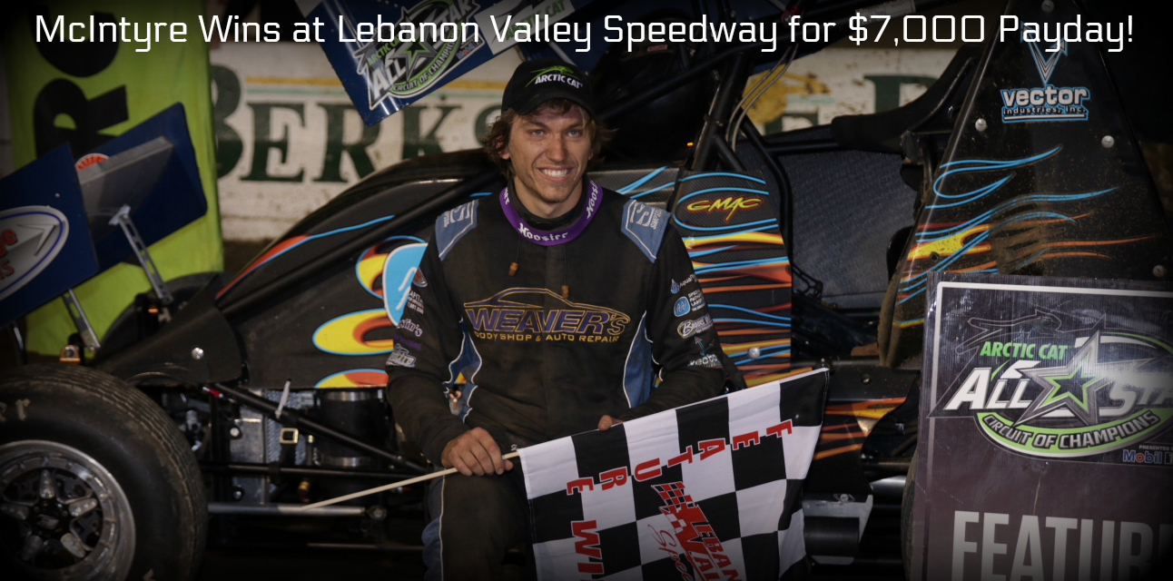 Gerard McIntyre scores $7000 at Lebanon Valley for first-ever All Star victory