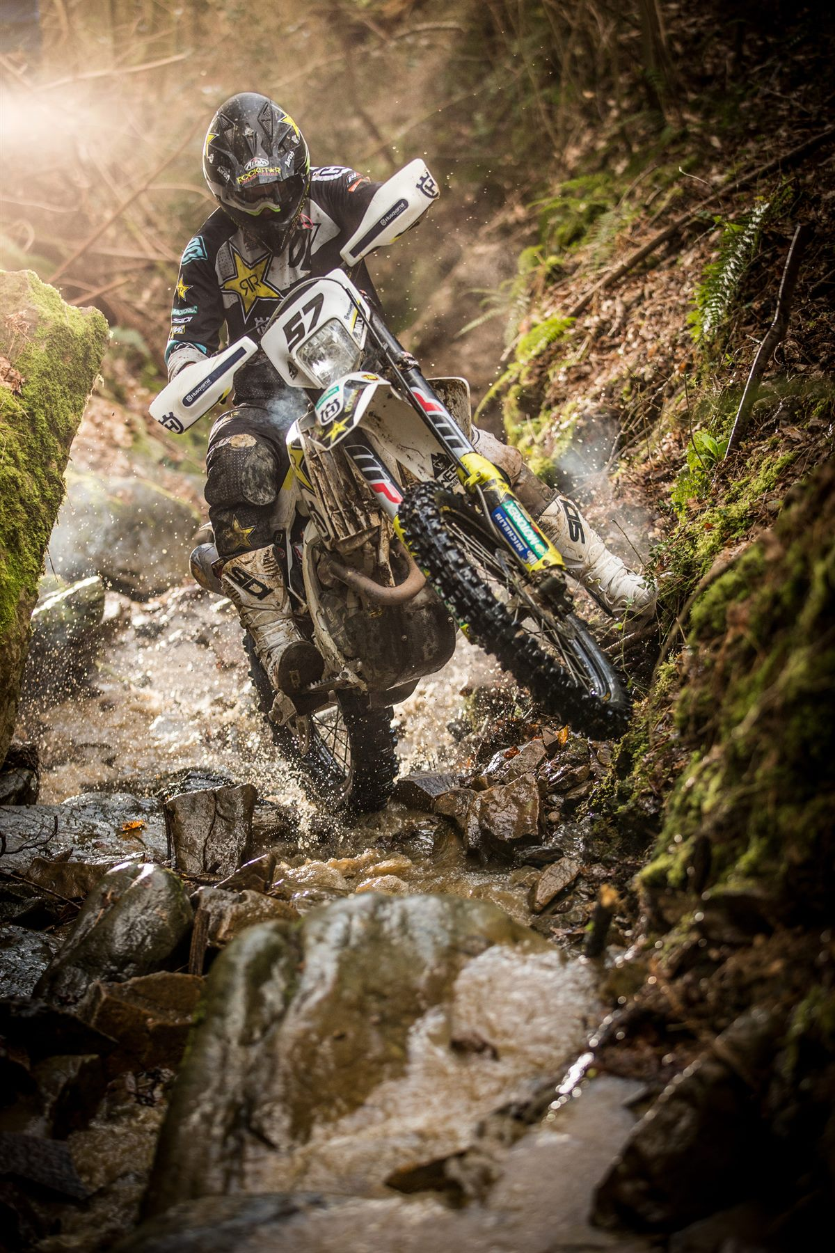 Rockstar Energy Husqvarna Factory Racing - enduro star Billy Bolt - action