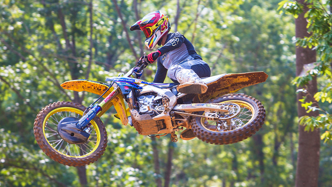 Chad Reed on the Autotrader-Yoshimura-Suzuki Factory Racing