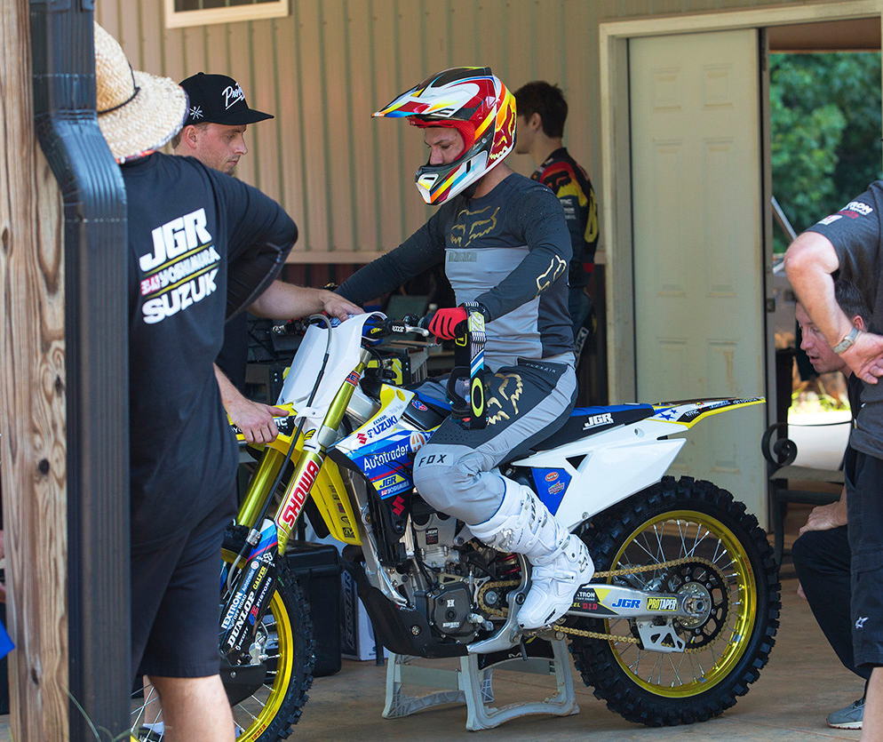 Chad Reed said he immediately felt comfortable on the Autotrader/Yoshimura/Suzuki Factory Racing RM-Z450. Team Manager Jeremy Albrecht stated he was impressed by Reed's testing abilities and professionalism.