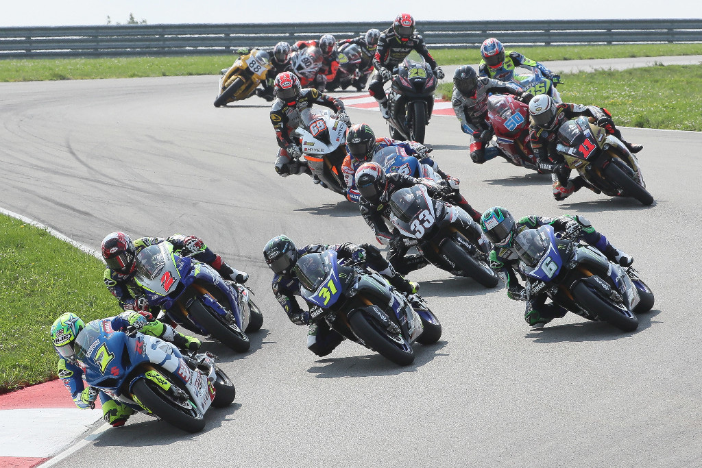 Sunday's Motul Superbike race at PittRace