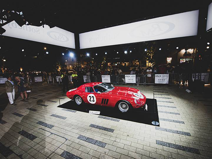 RM Sotheby's sets new world record for the most valuable car ever sold at auction with $48.4 million Ferrari 250 GTO