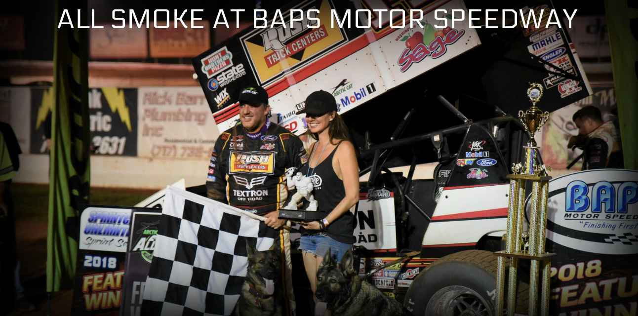 Tony Stewart leads an All Star stompin' at BAPS Motor Speedway