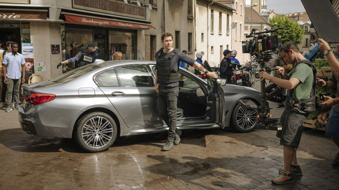 Bmw 5 series sedan stars in tom clancy s jack ryan for Clancy motors used cars