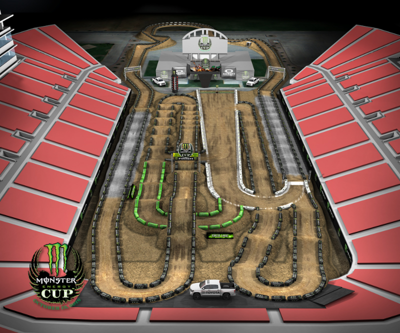 2018 Monster Energy Cup track - inspired by five-time Supercross Champion, Ricky Carmichael