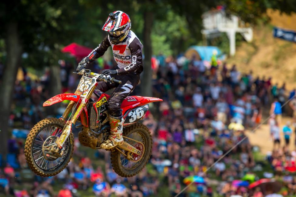 A second moto win helped RJ Hampshire capture his first career victory (2-1). - Rich Shephard