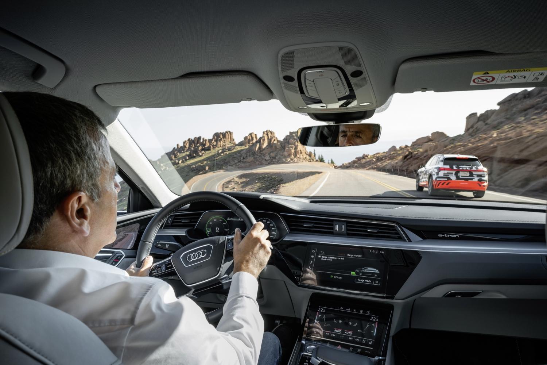 Audi e-tron prototype - recuperation test