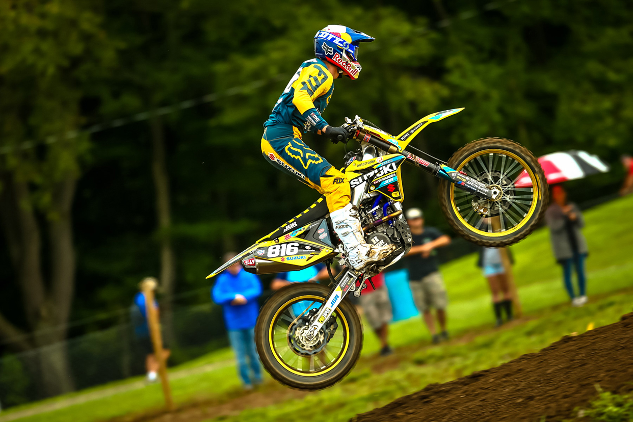 Suzuki Factory Racing - Class rookie Enzo Lopes (816) - Unadilla National