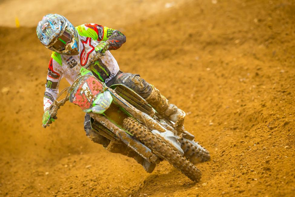Eli Tomac captured his eighth overall win (3-1) of the season and extended his championship point lead. - RIch Shephard
