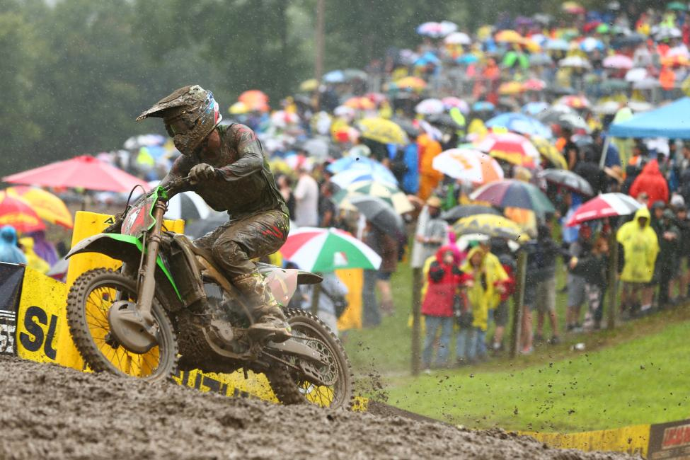 Eli Tomac did damage control in the muddy conditions - Unadilla