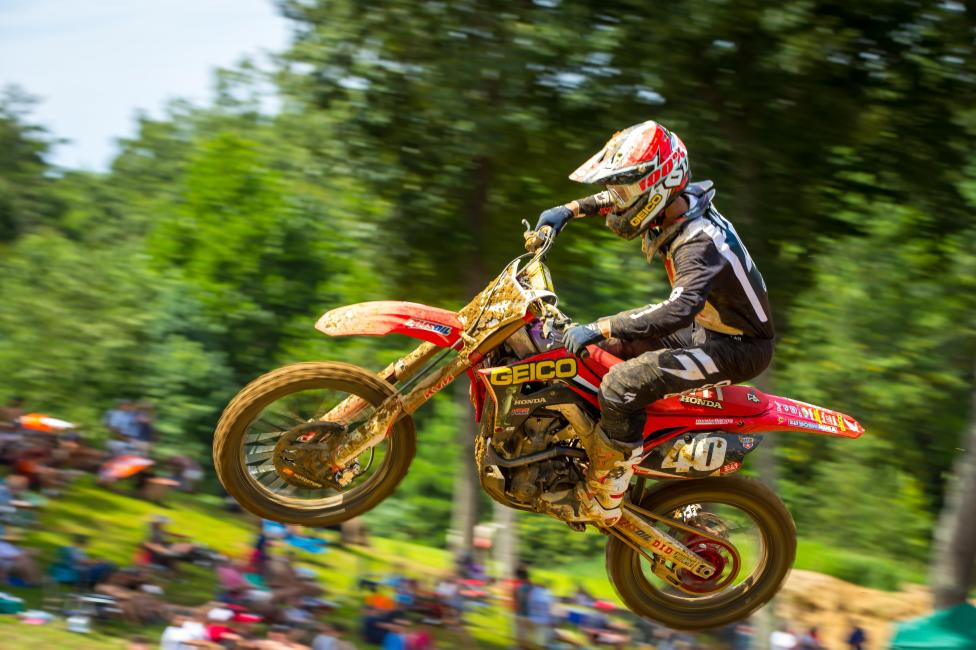 It was a battle of the GEICO Honda's in Moto 2 as Chase Sexton finished second overall - Budds Creek National