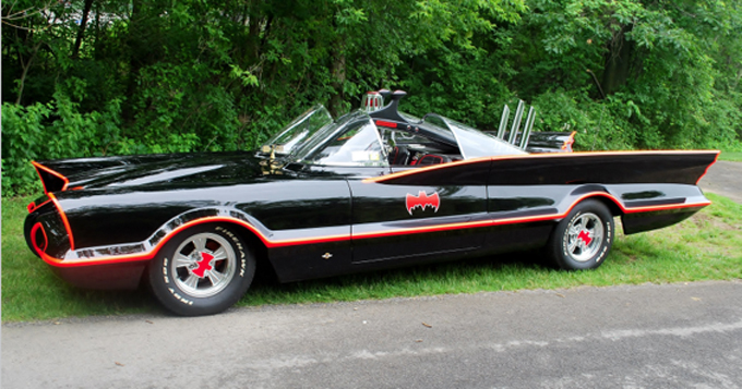 Mecum Auctions Harrisburg - 1978 Lincoln Batmobile Replica 400 CI Autographed by Adam West (Lot S173)