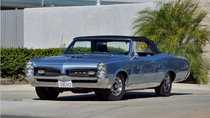 1967 Pontiac GTO Convertible 400 CI, 4-Speed (Lot S128)