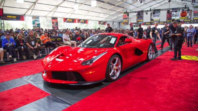 2014 Ferrari LaFerrari (Lot S111) at $3,190,000