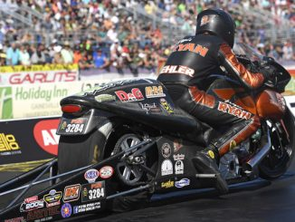 NHRA Pro Stock Motorcycle Ryan Oehler - action