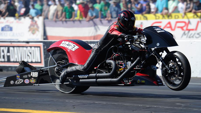 NHRA Top Fuel Harley Drag Racing