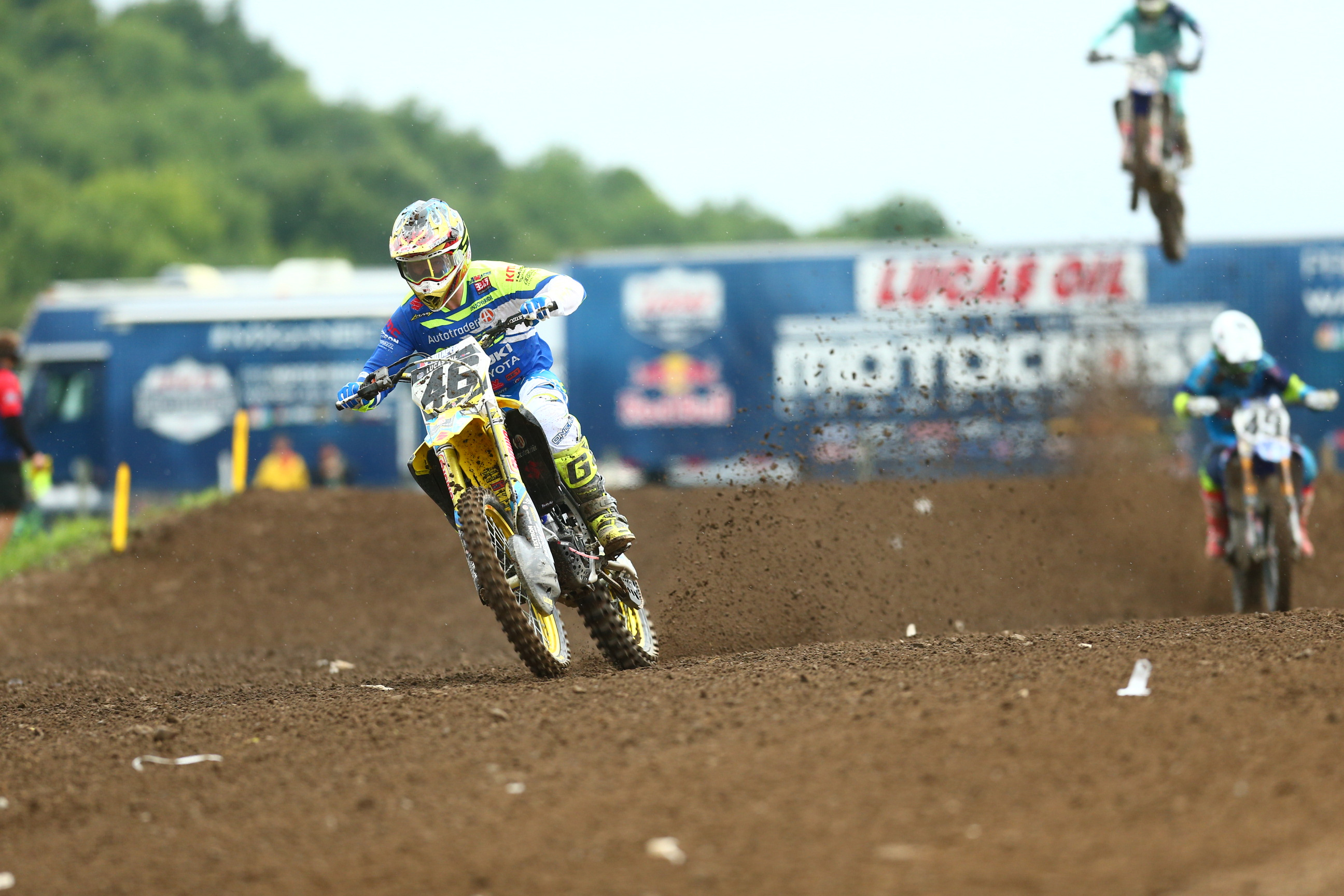 Suzuki Factory Racing - RM-Z450 pilot Justin Hill (46) - Unadilla National