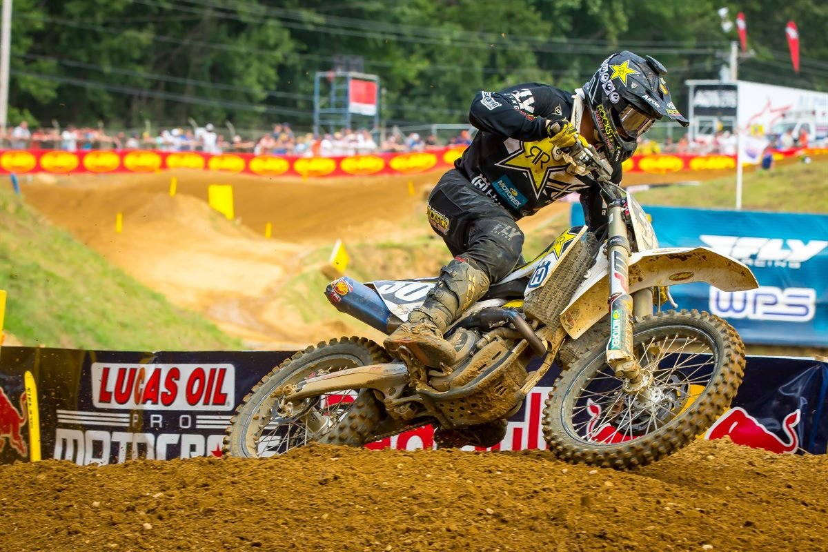 Rockstar Energy Husqvarna Factory Racing's Mitchell Harrison (Photo- Simon Cudby)