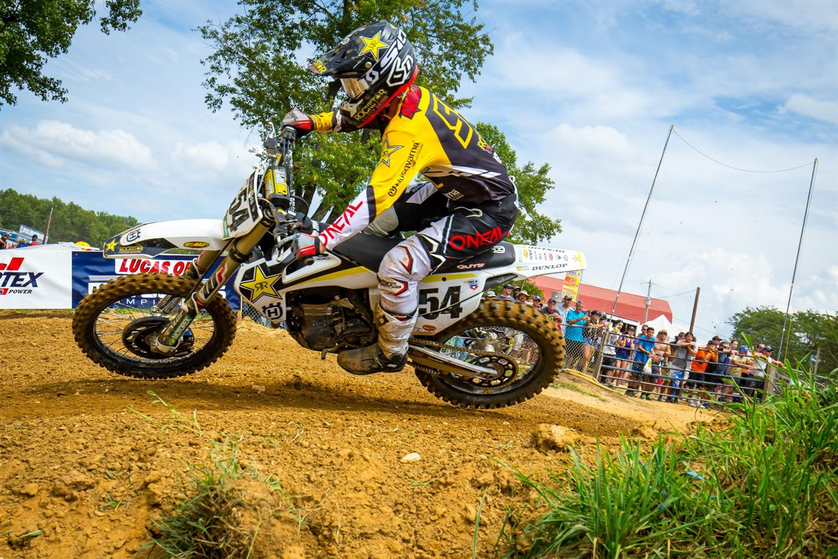 Rockstar Energy Husqvarna Factory Racing's Phil Nicoletti (Photo- Simon Cudby)