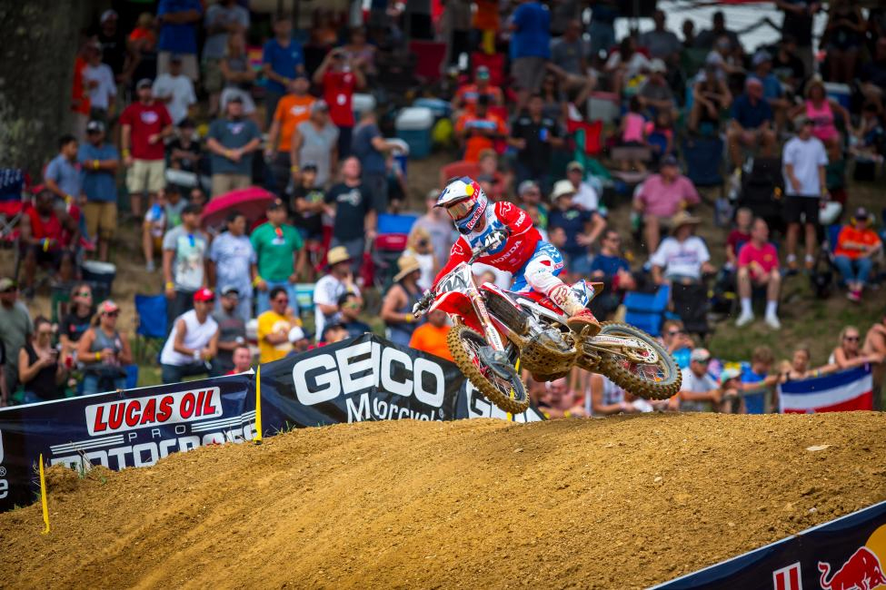 Roczen led laps in both motos and grabbed the first moto victory for second overall (1-3). - Rich Shephard