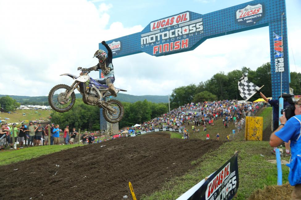 The Frenchman Dylan Ferrandis celebrates a perfect 1-1 performance - Unadilla