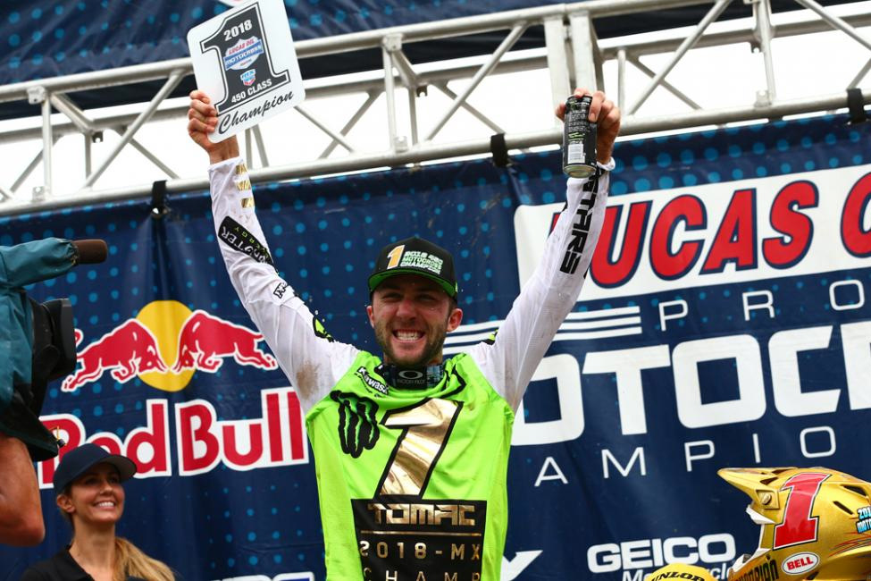 Tomac is the first rider to win back-to-back titles since Ricky Carmichael in 2005-2006 - Ironman National