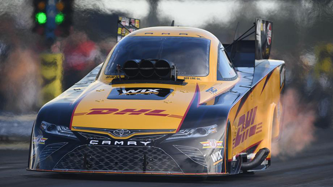 Defending Funny Car event champion J.R. Todd secured his first No. 1 qualifying position