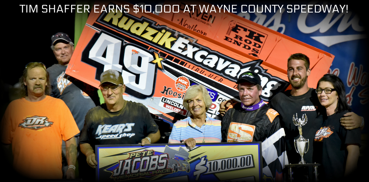 Tim Shaffer earns Pete Jacobs Memorial title worth $10,000 at Wayne County Speedway