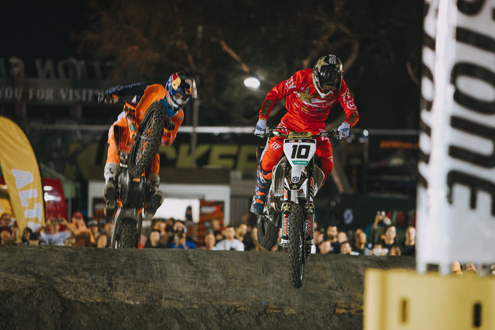 Colton Haaker (10) and Cody Webb (1) have each won a round of Endurocross