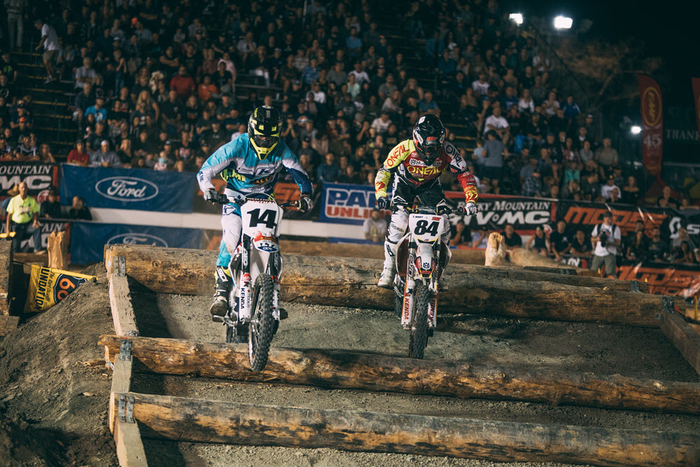 Trystan Hart (84) has finshed third and second at rounds one and two respectively - EnduroCross