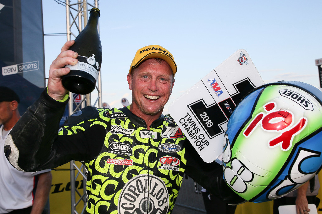 Chris Parrish won the first-ever MotoAmerica Twins Cup Championship