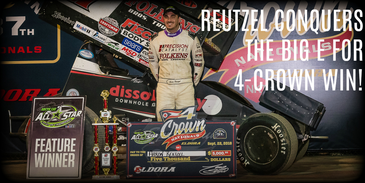 Aaron Reutzel cruises to 4-Crown victory at Eldora Speedway