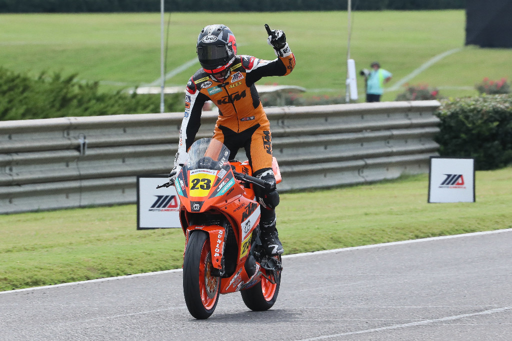 Alex Dumas won his 10th Liqui Moly Junior Cup race of the season - MotoAmerica
