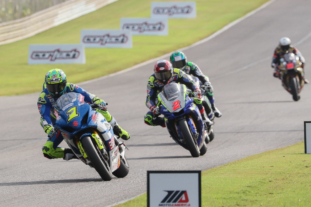 Toni Elias (1) won the Motul Superbike season finale on Sunday at Barber Motorsports Park - MotoAmerica