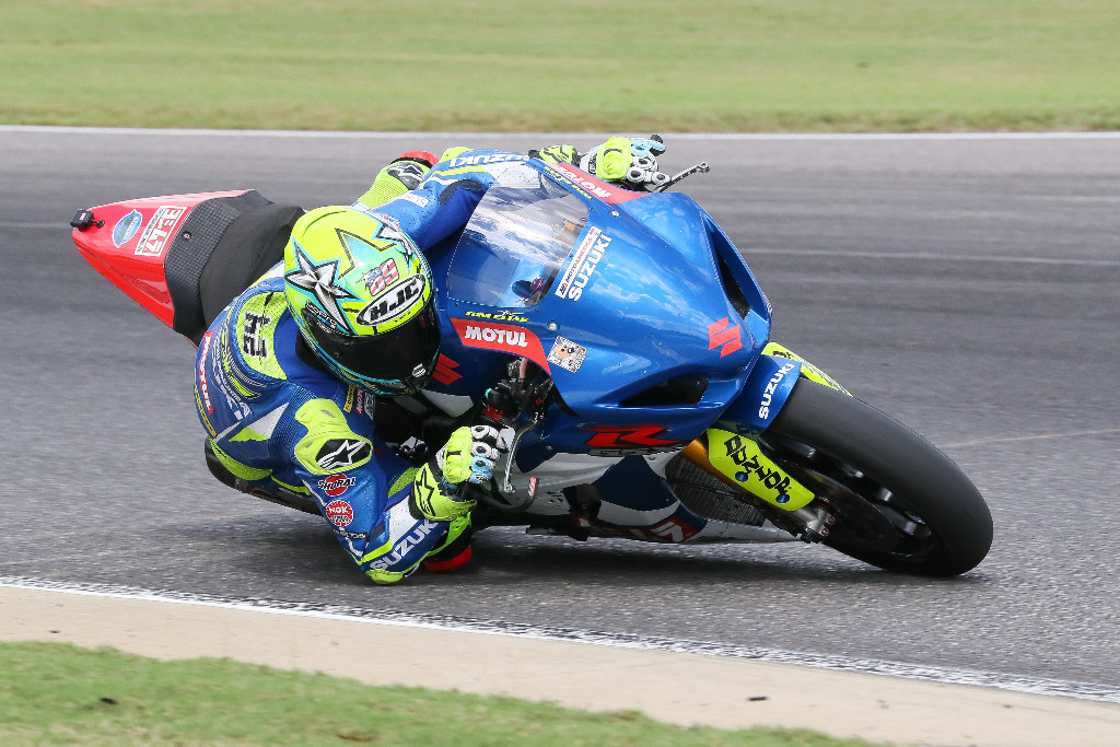 - Dunlop tire test Yoshimura Suzuki's Toni Elias ripped the number one from his Suzuki after losing the 2018 title