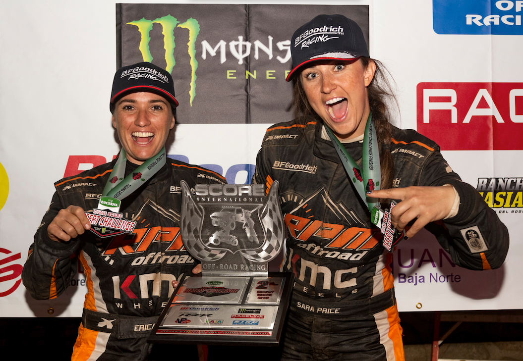 Podium Finish - Sara Price In Trophy Truck Spec. Class - SCORE International Tijuana Desert Challenge - 1
