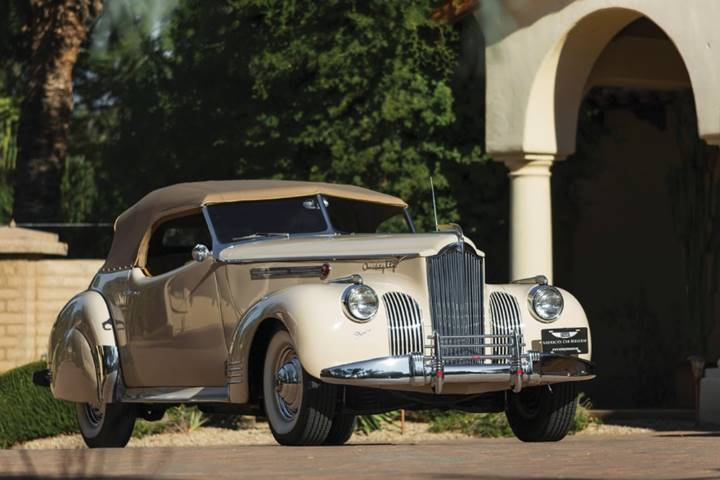 1941 Packard Custom Super Eight One Eighty Convertible Victoria by Darrin set for RM Auctions Hershey (Courtesy of RM Auctions)