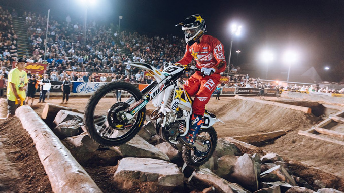 Rockstar Energy Husqvarna Factory Racing Off Road's Colton Haaker Victorious at Costa Mesa EnduroCross