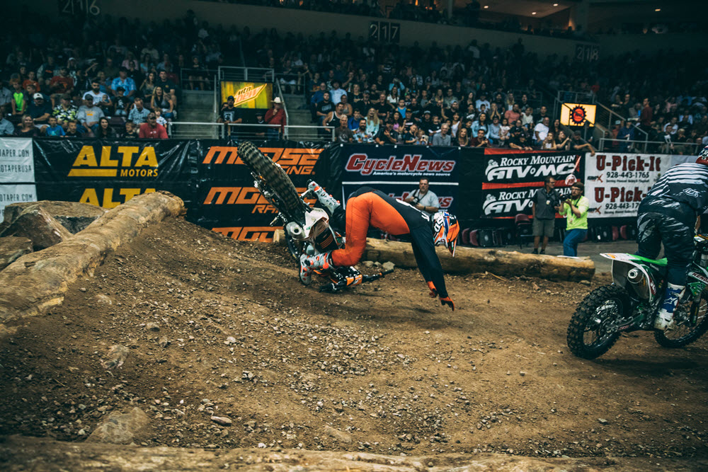 EnduroCross - Destry Abbott often gets grief from his fellow Vet class competitors