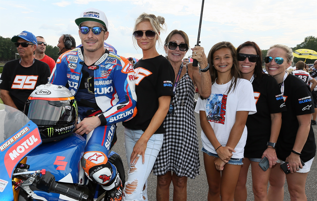 Family and friends joined Roger Hayden (95) - Yoshimura Suzuki Factory Racing