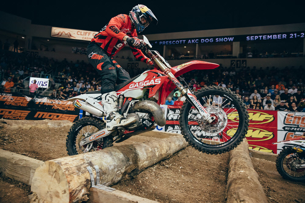 Geoff Aaron is still very competitive at EnduroCross