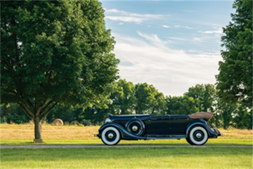 Hershey Sale - 1934 Lincoln Model KB Convertible Sedan (© 2018 Courtesy of RM Auctions