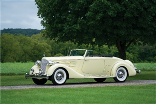 Hershey Sale - 1936 Packard Twelve Coupe Roadster (Erik Fuller © 2018 Courtesy of RM Auctions)