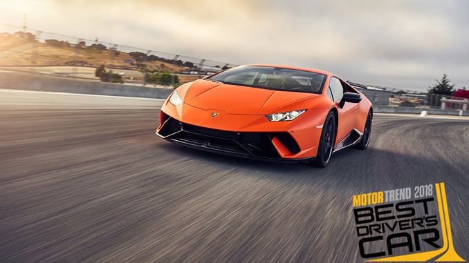 Lamborghini Huracán Performante Best Driver's Car for 2018