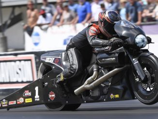 NHRA Pro Stock Motorcycle Eddie Krawiec - action