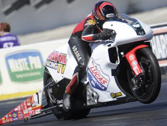 NHRA Pro Stock Motorcycle Hector Arana Jr. - action